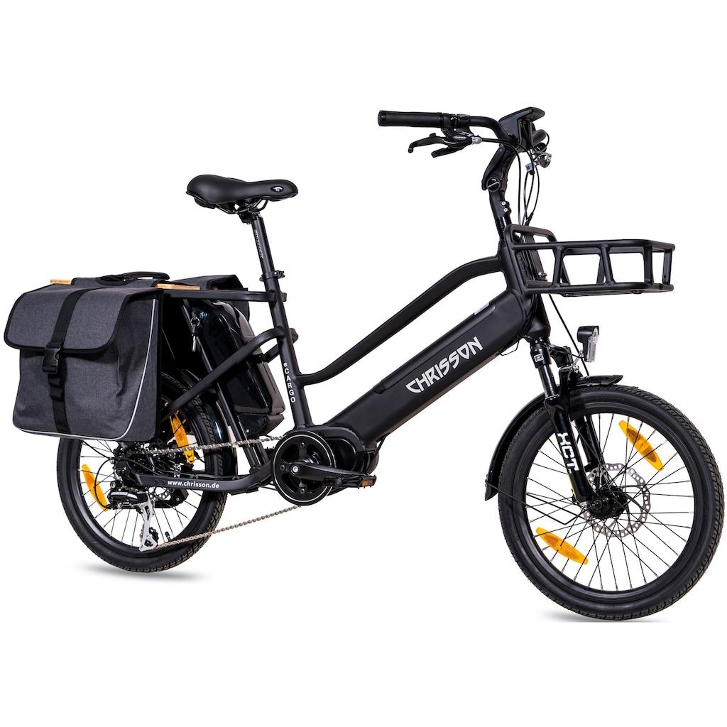 Chrisson E-Bike »eCargo«, 8 Gang, Shimano, Acera RD-M360, Mittelmotor 250 W