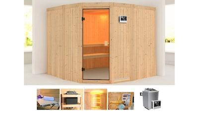 KONIFERA Sauna »Horsta 3«, 231x231x198 cm, 9 kW Ofen mit ext. Steuerung kaufen