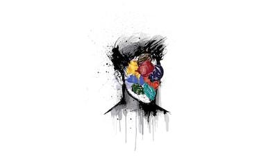 queence Leinwandbild »Kopf« kaufen