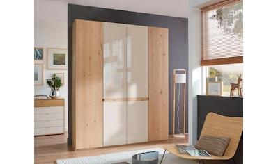 WIEMANN Drehtürenschrank »Bari«, mit Glasfront und Massivholz-Absetzungen kaufen