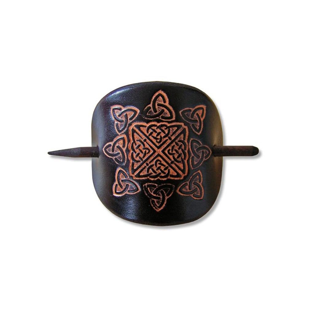Adelia´s Haarspange »Keltische Leder Haarspange«