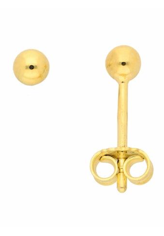 Adelia´s Paar Ohrstecker »585 Gold Ohrringe / Ohrstecker Ø 3 mm«, Goldschmuck für Damen kaufen