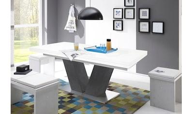 Mäusbacher Esstisch »Komfort D«, mit V-Gestell in graphit und mit Auszugsfunktion,... kaufen