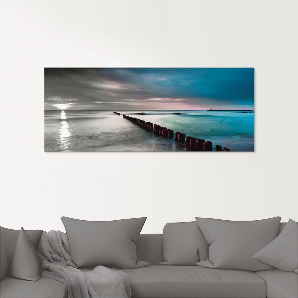 Artland Glasbild »Ostsee mit schönem Sonnenaufgang«, Gewässer, (1 St.)