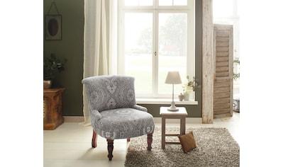 Home affaire Sessel »Jamal«, aus schönem Leinenstoff mit edlen Stickereien, Sitzhöhe 39 cm kaufen
