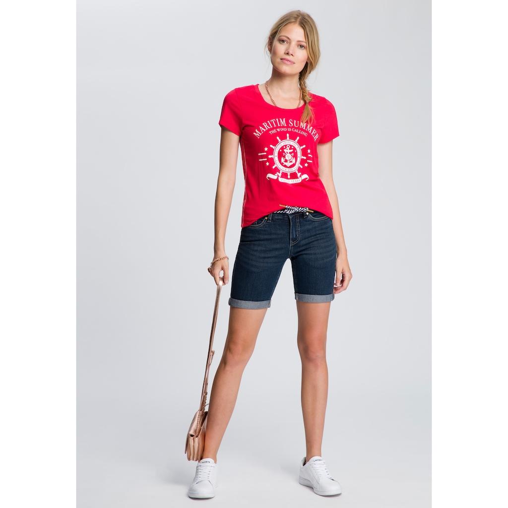 TOM TAILOR Polo Team T-Shirt, mit großem Front-Print