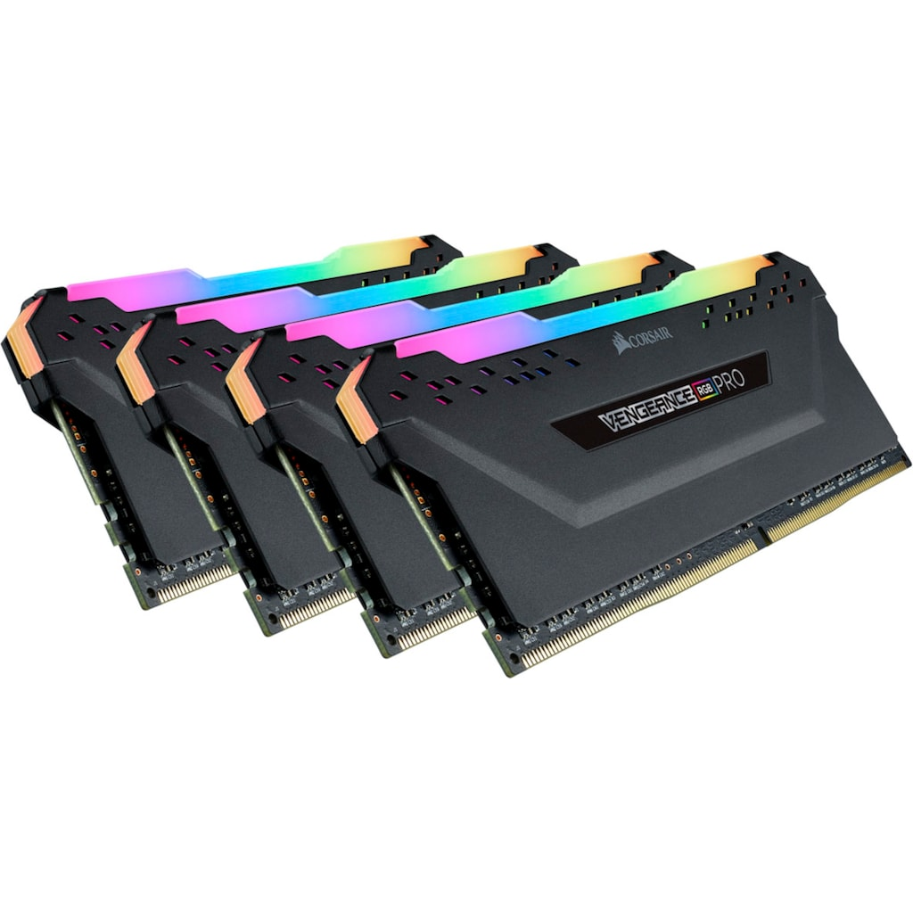 Corsair PC-Arbeitsspeicher »VENGEANCE® RGB PRO 32 GB (4 x 8 GB) DDR4 DRAM 3.200 MHz C16«