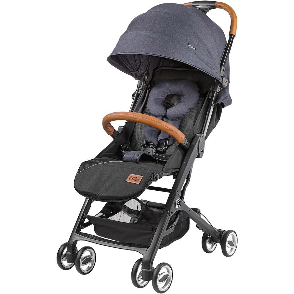 Gesslein Kinder-Buggy »Babies Smiloo Cuby, blau-meliert«, mit Frontbügel; Kinderwagen, Buggy, Sportwagen, Sportbuggy, Kinderbuggy, Sport-Kinderwagen
