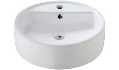 WELLTIME Aufsatzbecken » Madrid«, Waschbecken, rund, Breite 44 cm kaufen