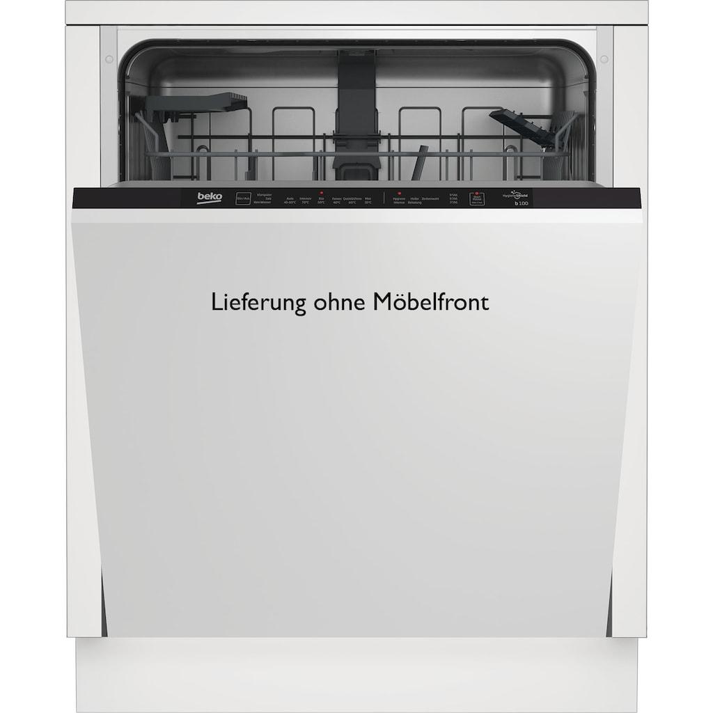 BEKO vollintegrierbarer Geschirrspüler, BDIN16420, 12,9 l, 14 Maßgedecke