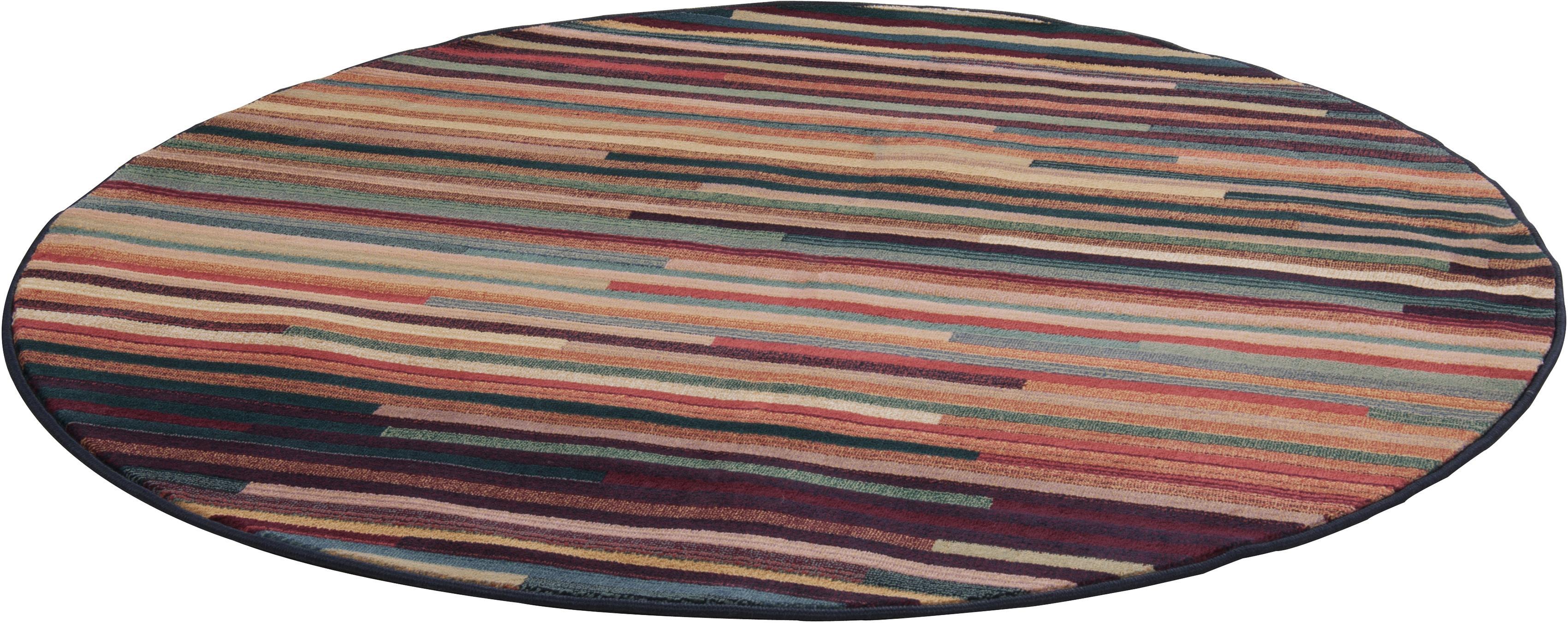 Teppich Gabiro 1728 THEKO rund Höhe 10 mm maschinell gewebt