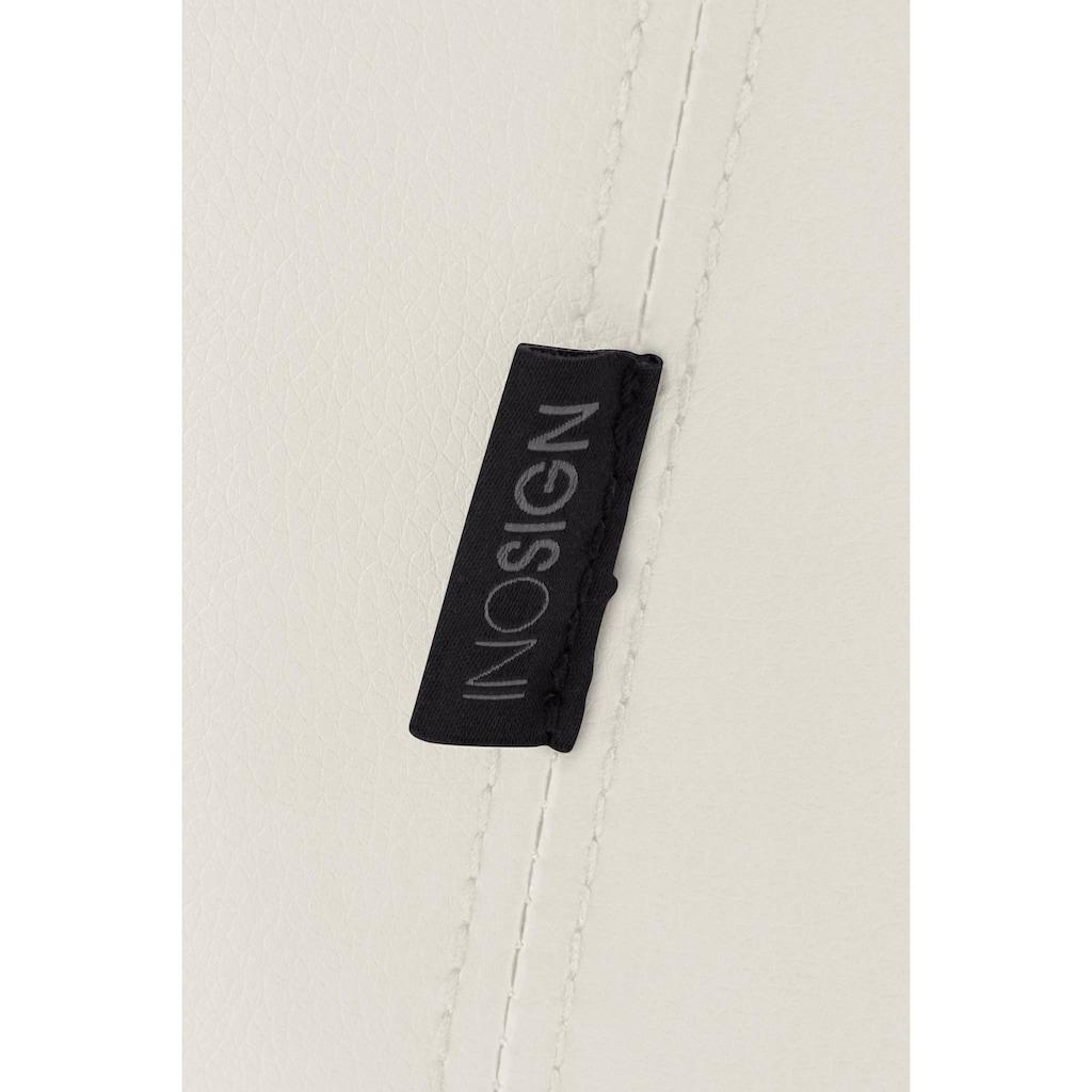 INOSIGN Esszimmerstuhl »Plymouth«, mit einem schönen Kunstleder Bezug und einem schwarzen Metallgestell in Kufen Form, Sitzhöhe 47 cm