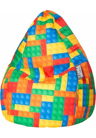Sitting Point Sitzsack »Bricks L«, Digitaldruck kaufen