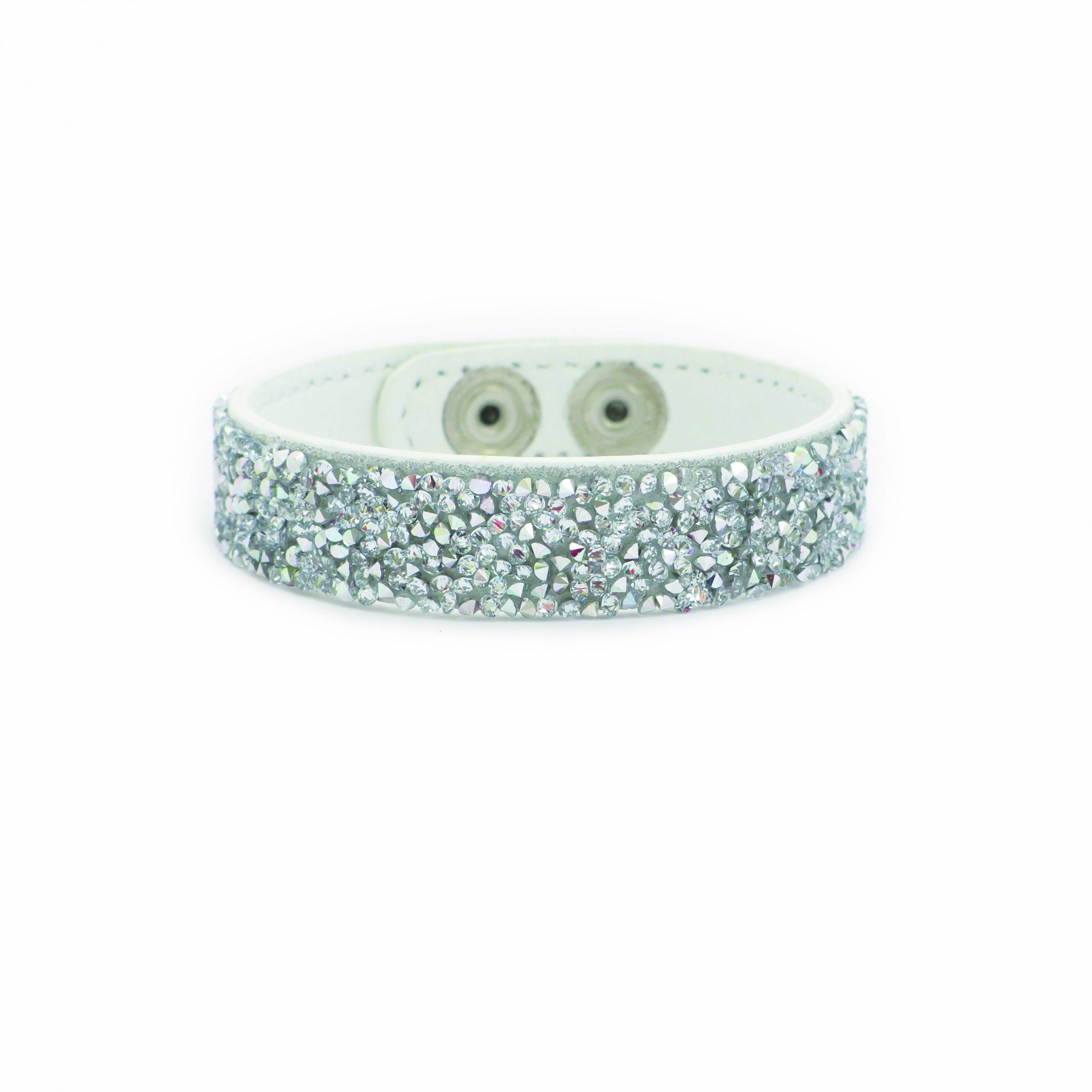 LOVING CRYSTAL Lederarmband mit Swarovski-Steinen | Schmuck > Armbänder > Lederarmbänder | Weiß | Loving Crystal