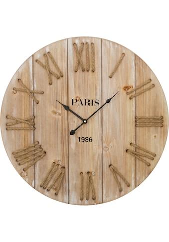 Home affaire Wanduhr »Wilbur«, XXL, aus Holz, rund, Ø 58 cm, römische Ziffern kaufen