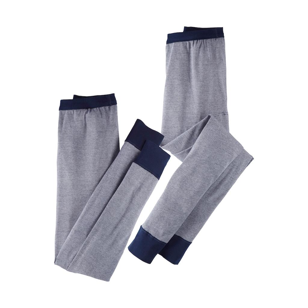 Clipper Exclusive Lange Unterhose, (2 St.), modische Optik: Jeans meliert, tolle Qualität