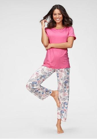 Cybèle Pyjama, mit Babylockdetails und geblümter Hose kaufen