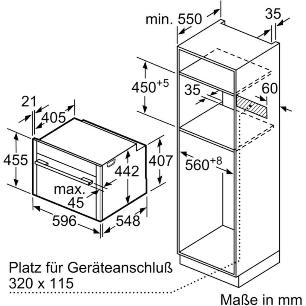 NEFF Einbaubackofen »C15FS22N0«, N 90, C15FS22N0, easyClean, CircoTherm®-Heißluft