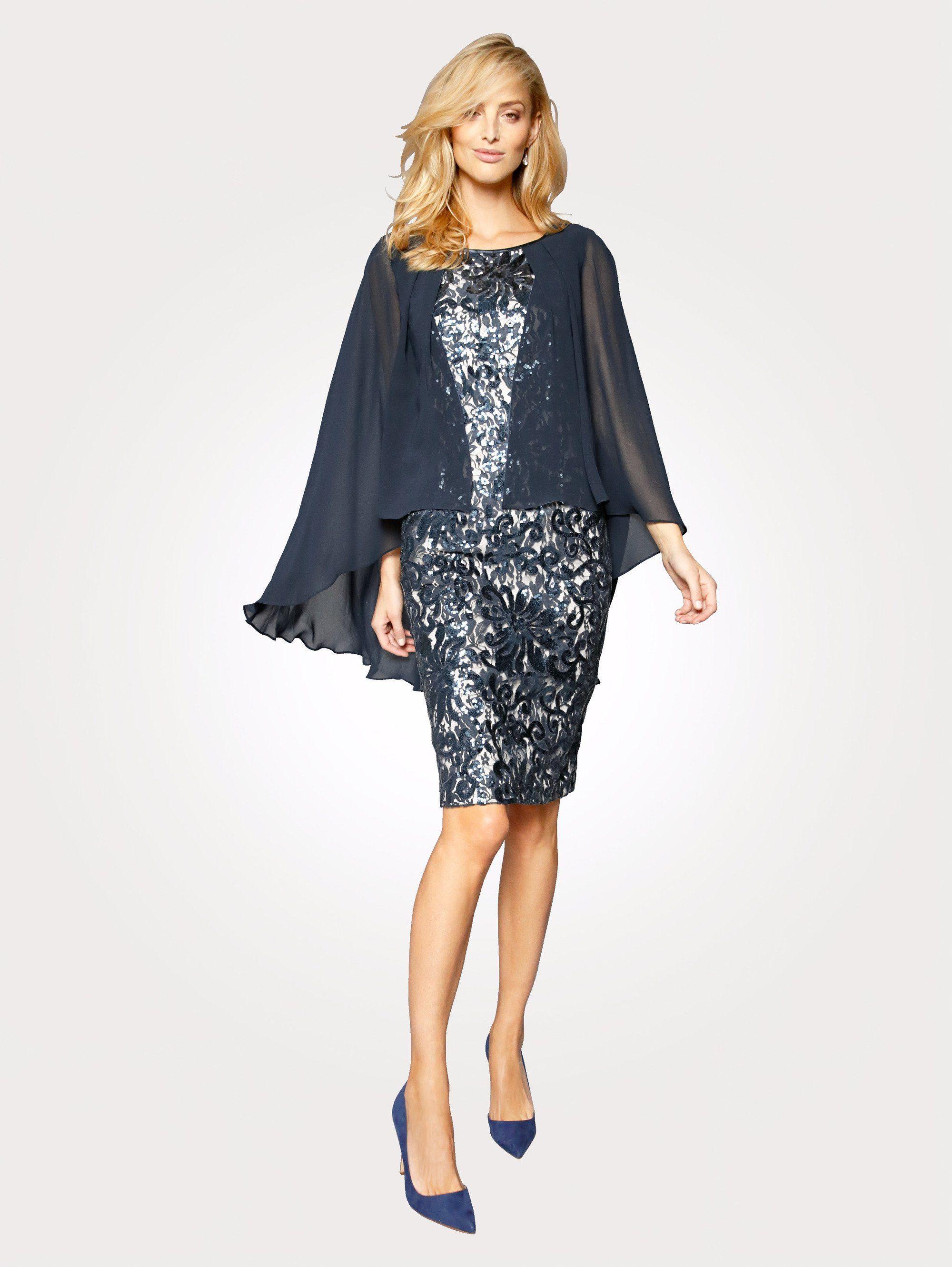 Mona Kleid mit Chiffon Überwurf