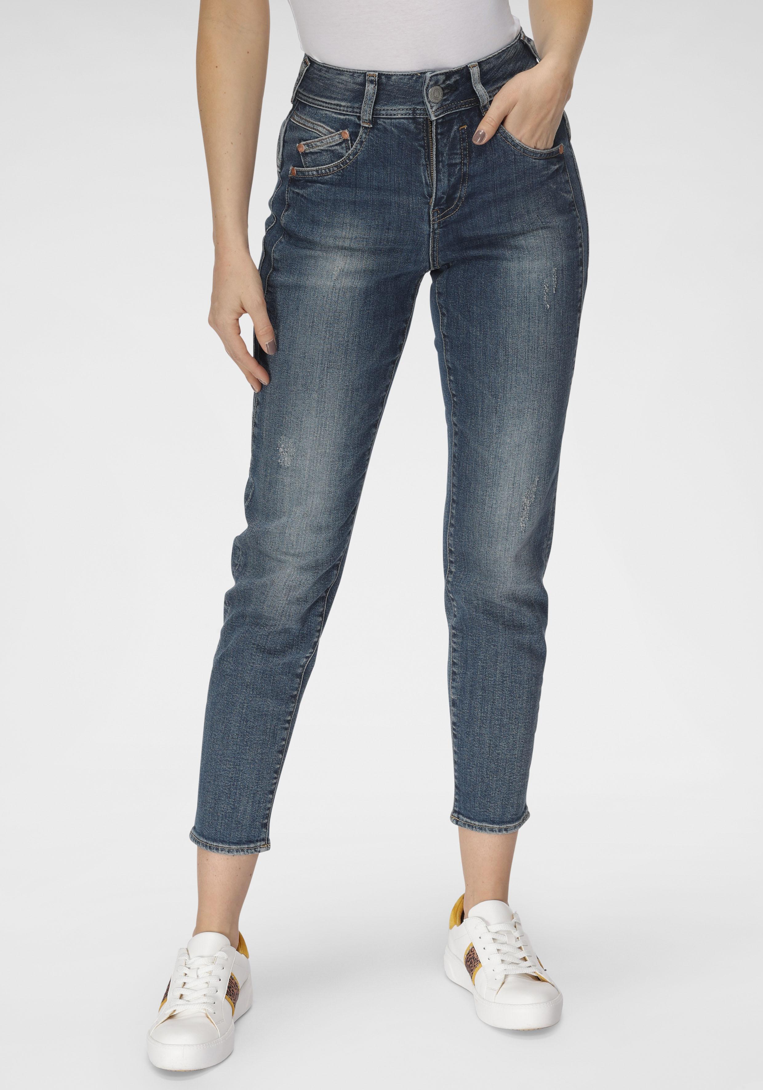 herrlicher -  High-waist-Jeans GILA HI CONIC, umweltfreundlich dank dem Einsatz von Recycled Denim