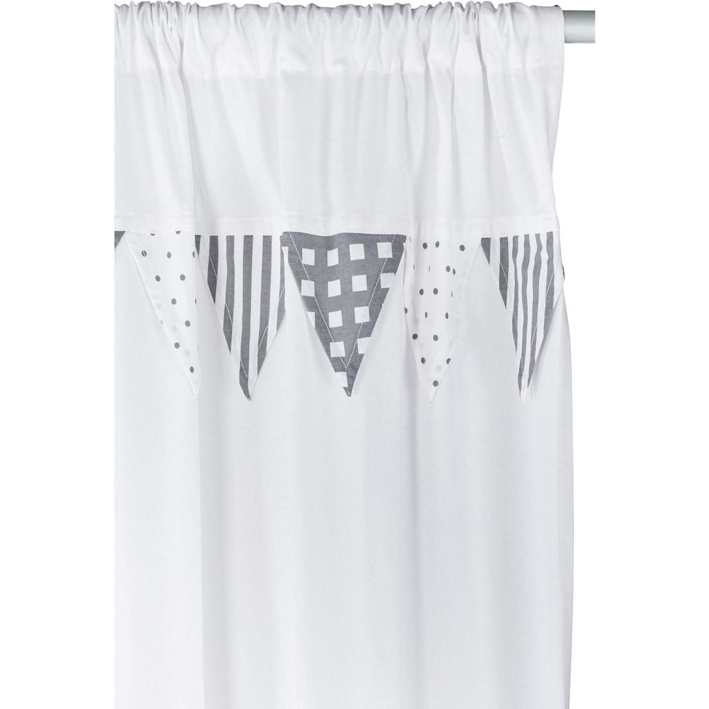 Lüttenhütt Vorhang »Wimpel«, bestickte Kindergardine