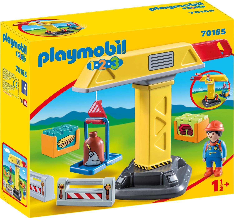 "Playmobil Konstruktions-Spielset ""Baukran (70165) Playmobil 123"" Kindermode/Spielzeug/Baby & Kleinkind/Playmobil 123"
