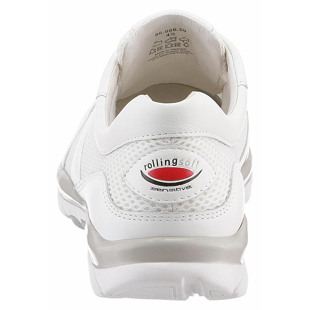 Gabor Rollingsoft Sneaker, mit sportlichem Mesheinsatz