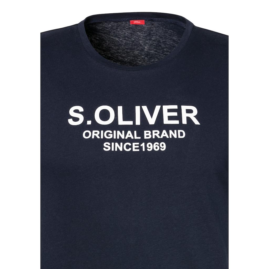 s.Oliver Bodywear Shorty, mit karierter Webhose