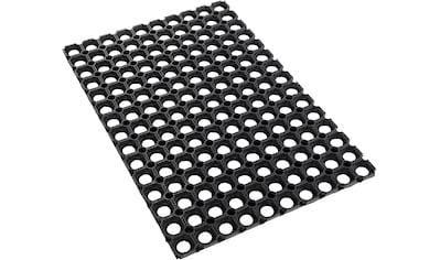 Andiamo Fußmatte »Gummi Ringmatte«, rechteckig, 15 mm Höhe, Fussabstreifer, Fussabtreter, Schmutzfangläufer, Schmutzfangmatte, Schmutzfangteppich, Schmutzmatte, Türmatte, Türvorleger, In- und Outdoor geeignet, besonders robust kaufen