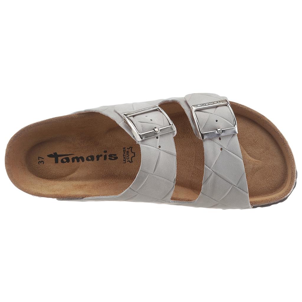 Tamaris Pantolette »CORRA«, mit modischer Prägung