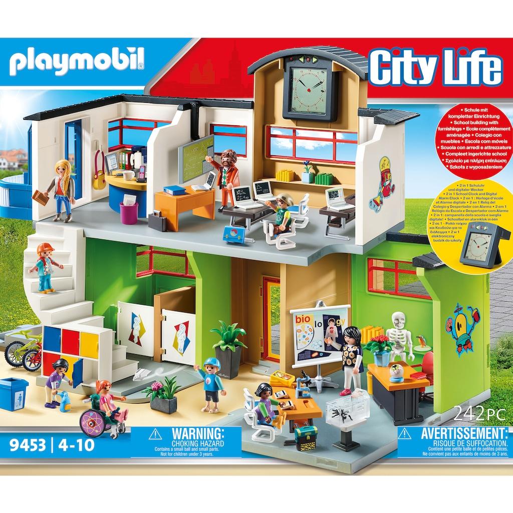 Playmobil® Konstruktions-Spielset »Große Schule mit Einrichtung (9453), City Life«, (242 St.), Made in Germany