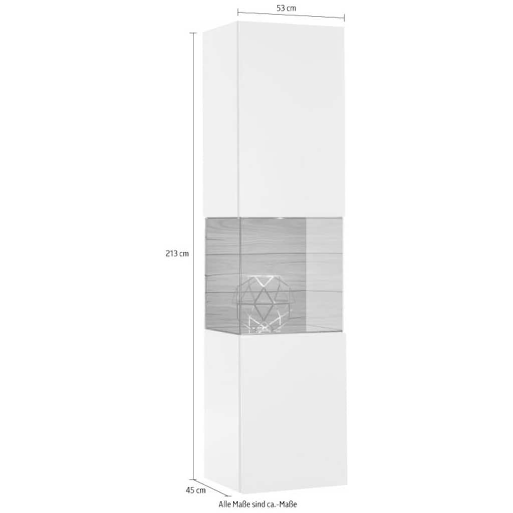 hülsta Vitrine »GENTIS«, Höhe 213 cm, inklusive LED-Beleuchtung, inklusive Liefer- und Montageservice durch hülsta Monteure