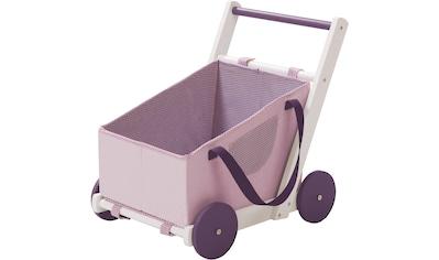roba® Puppenwagen »Fienchen«, aus Holz mit Tragetasche aus Stoff kaufen