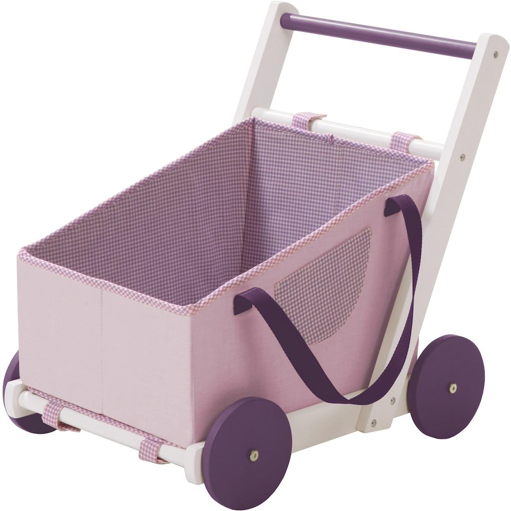 roba® Puppenwagen »Fienchen«, aus Holz mit Tragetasche aus Stoff