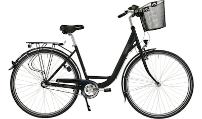 HAWK Bikes Cityrad »HAWK City Wave Premium Plus Black«, 3 Gang, Shimano, Nexus Schaltwerk kaufen