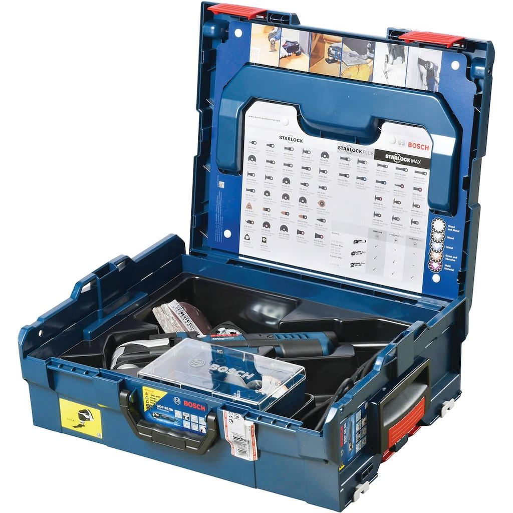 Bosch Professional Elektromesser »Akku-Multi-Cutter GOP 55-36 Multi-Cutter ZB L-BOXX«, 550 W