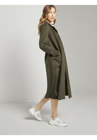 TOM TAILOR Langjacke »Langer Mantel mit Bindegürtel« kaufen