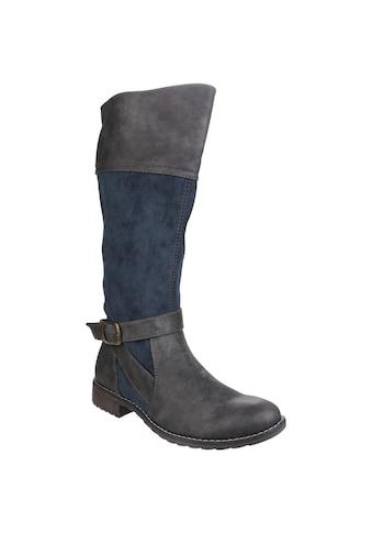 Divaz Stiefel »Damen Garbo mit Reißverschluss und Kontrast - Details« kaufen