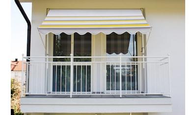 Angerer Freizeitmöbel Klemmmarkise, gelb/grau, Ausfall: 150 cm, versch. Breiten kaufen