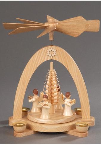 """Albin Preissler Weihnachtspyramide """"4 Engel mit Spanbaum"""" kaufen"""