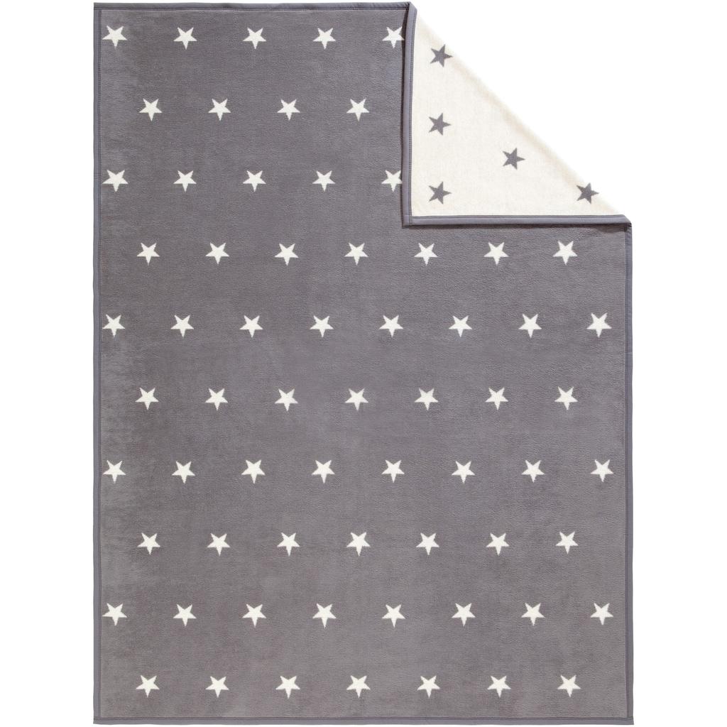 IBENA Wohndecke »Star«, mit kleinen Sternen