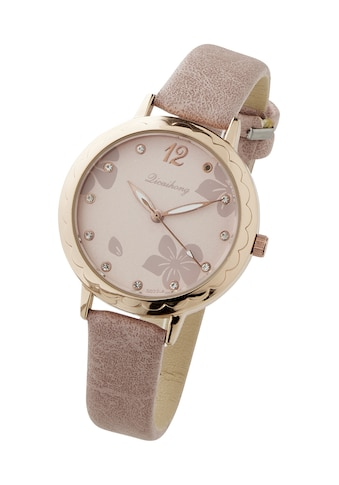 Armbanduhr Ziffernblatt mit Blumenmotiv kaufen