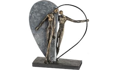 Casablanca by Gilde Dekofigur »Skulptur Herzklopfen, bronzefarben/grau«, Dekoobjekt, Höhe 31, Wohnzimmer kaufen