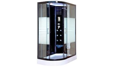 HOME DELUXE Komplettdusche »Black Pearl L«, mit Tropenbrause, Beleuchtung und Radio kaufen