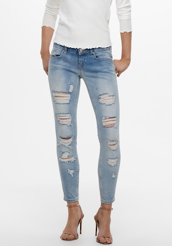 Only Ankle-Jeans »ONLCORAL«, mit Destroyed Details kaufen