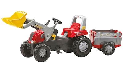 ROLLY TOYS Tretfahrzeug »Junior RT«, Kindertraktor mit Lader und Anhänger kaufen