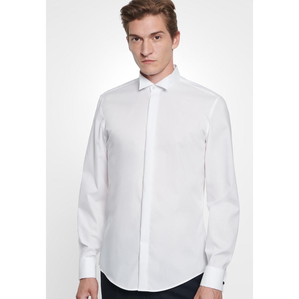 seidensticker Smokinghemd »Slim«, Slim Langarm Kläppchenkragen Uni
