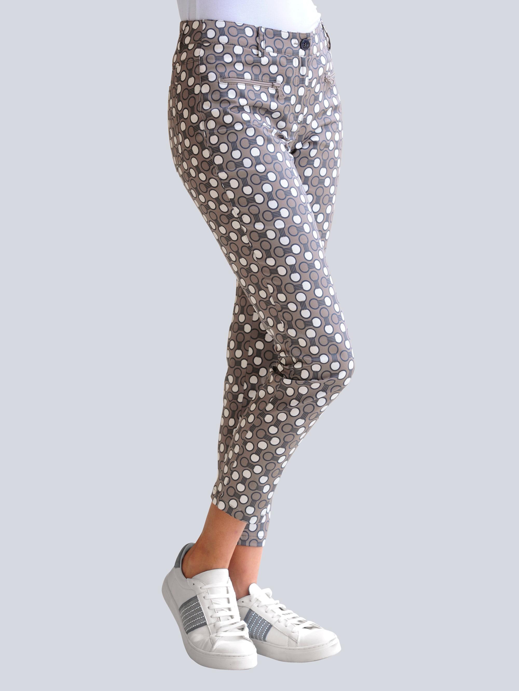 alba moda -  Stoffhose, mit Punkte-Dessin