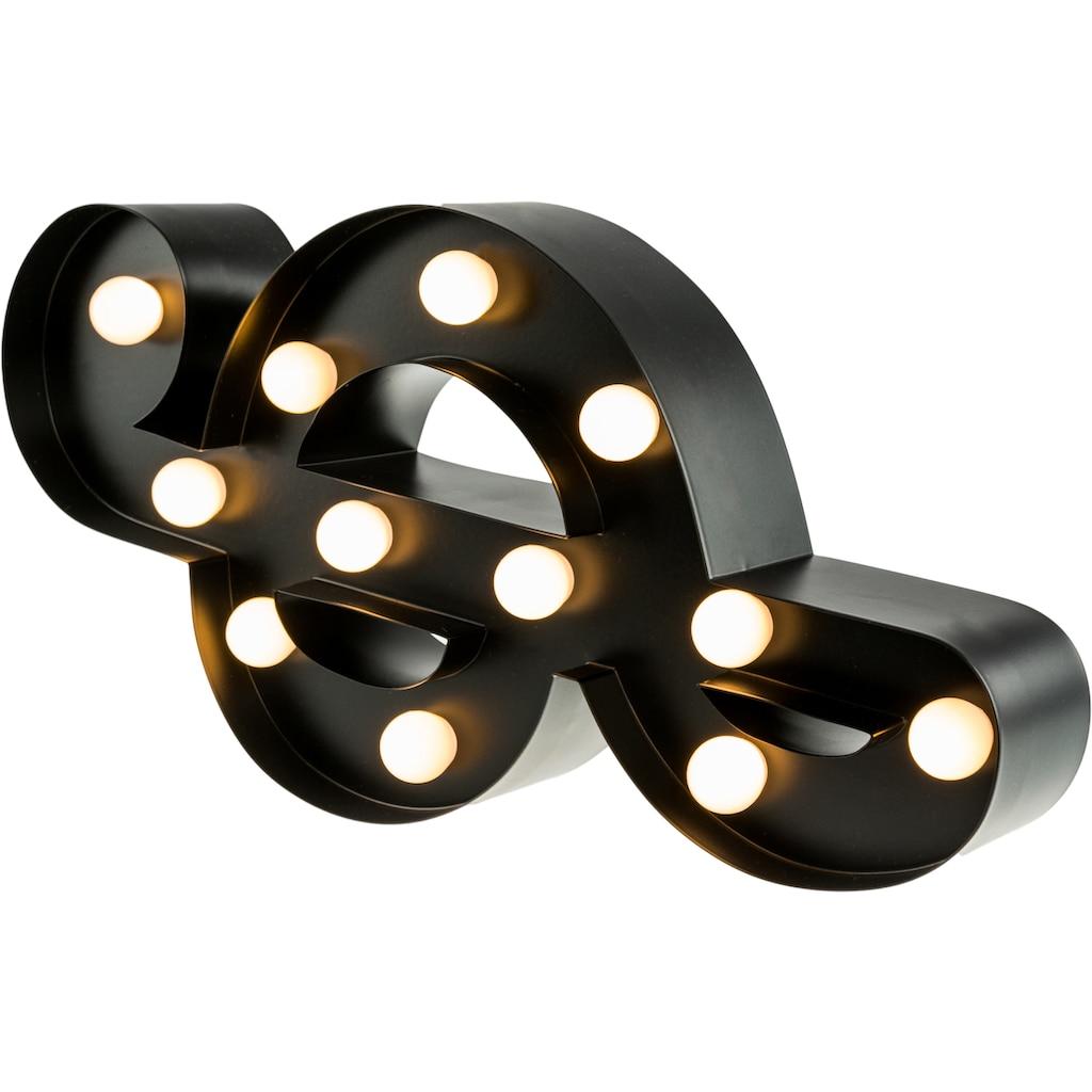 MARQUEE LIGHTS LED Dekolicht »Notenschlüssel«, 1 St., Warmweiß, Wandlampe, Tischlampe Music-Clef mit 12 festverbauten LEDs - 16cm Breit und 31cm hoch