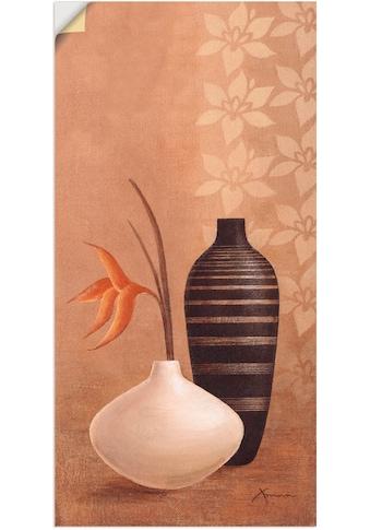 Artland Wandbild »Bauschige Vasen«, Vasen & Töpfe, (1 St.), in vielen Größen & Produktarten - Alubild / Outdoorbild für den Außenbereich, Leinwandbild, Poster, Wandaufkleber / Wandtattoo auch für Badezimmer geeignet kaufen